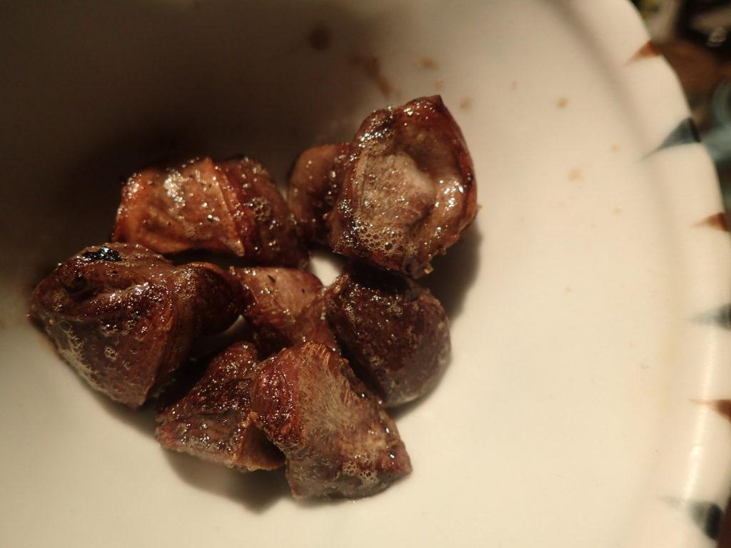 鶏肉料理 砂肝ガーリックバター炒め