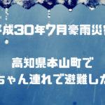 豪雨災害 本山町