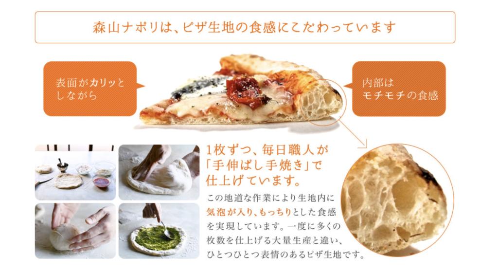 森山ナポリ ピザ こだわり