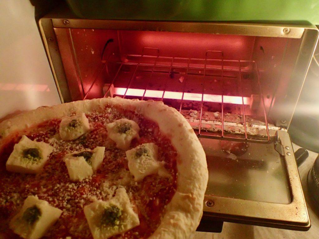 森山ピザ オーブントースターですぐに焼ける